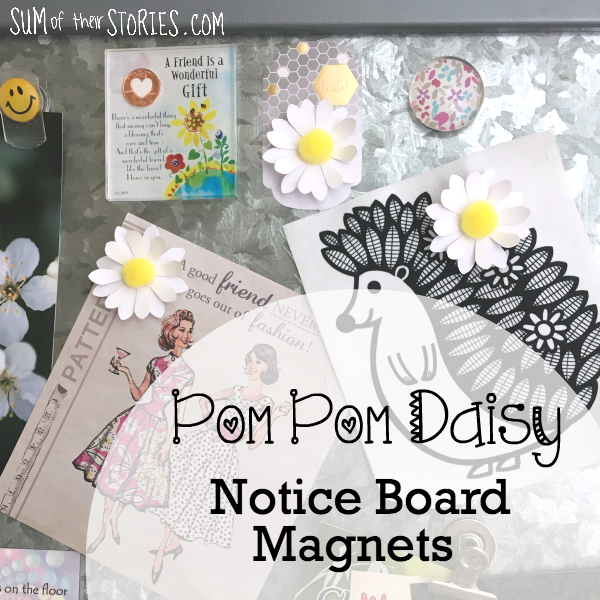 daisy notice board magnets