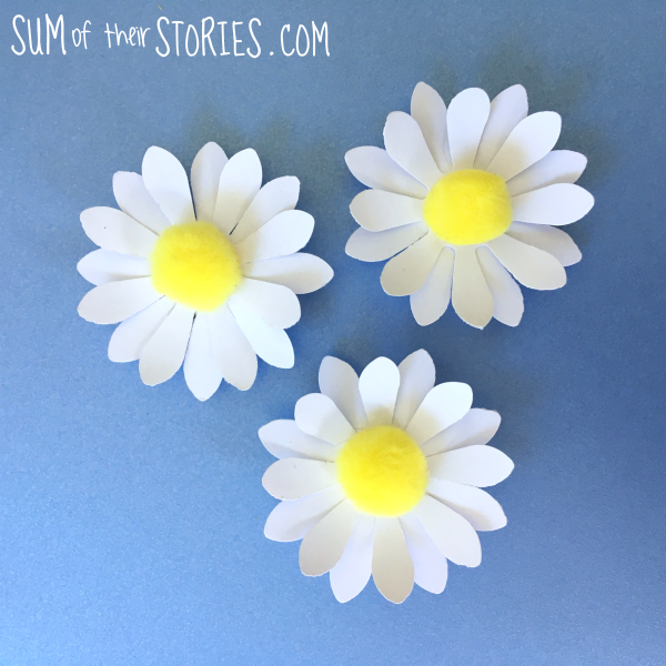 Daisy pom pom fridge magnets