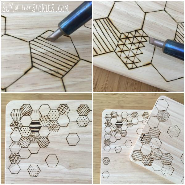 hexagon chopping board design