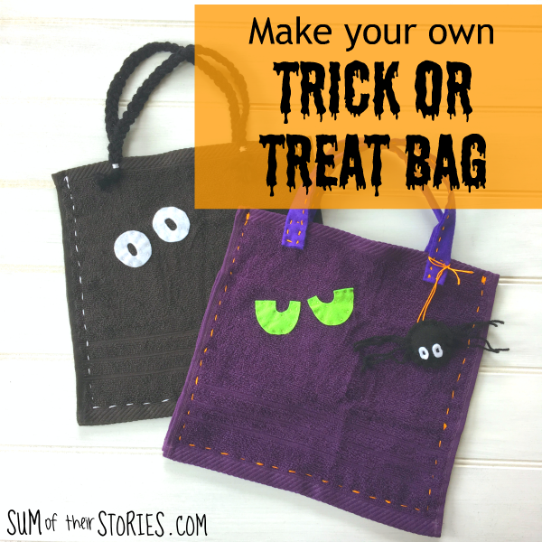 make your own simple trick or treat bag