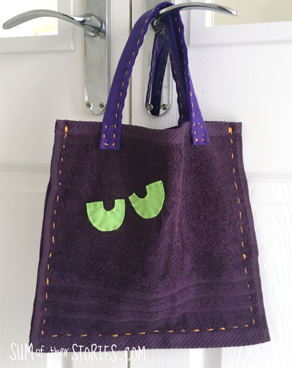 Purple trick or treat bag