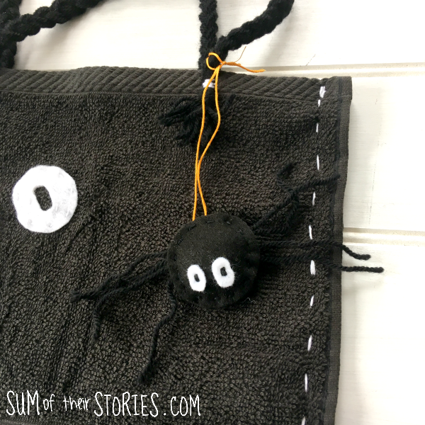halloween spider bag charm