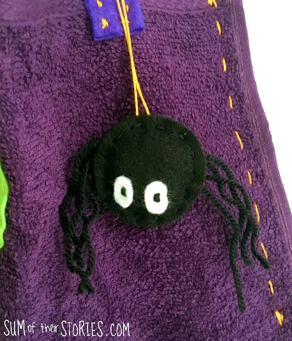 mini spider softie halloween