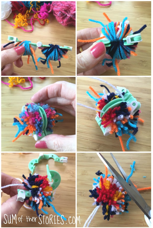 using a pom pom maker