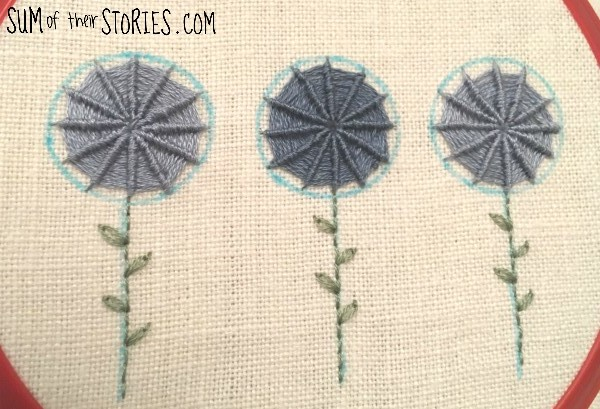 how to embroider spider web stitch