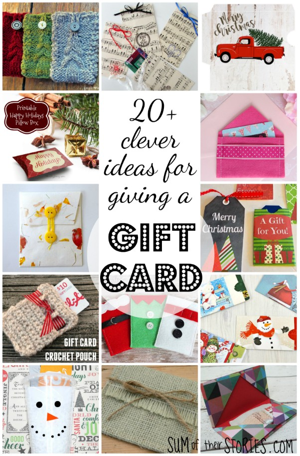 more than 20 clever ideas for giving a gift card