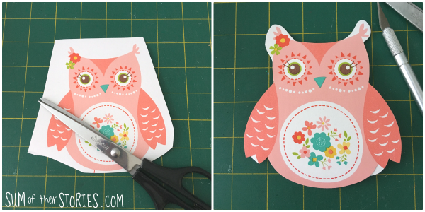 cut out wall paper to make greeting cards