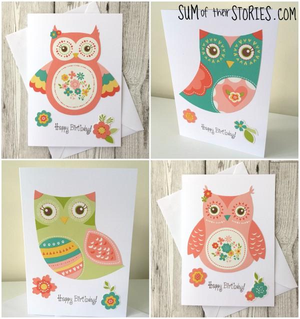 owl greeting card ideas