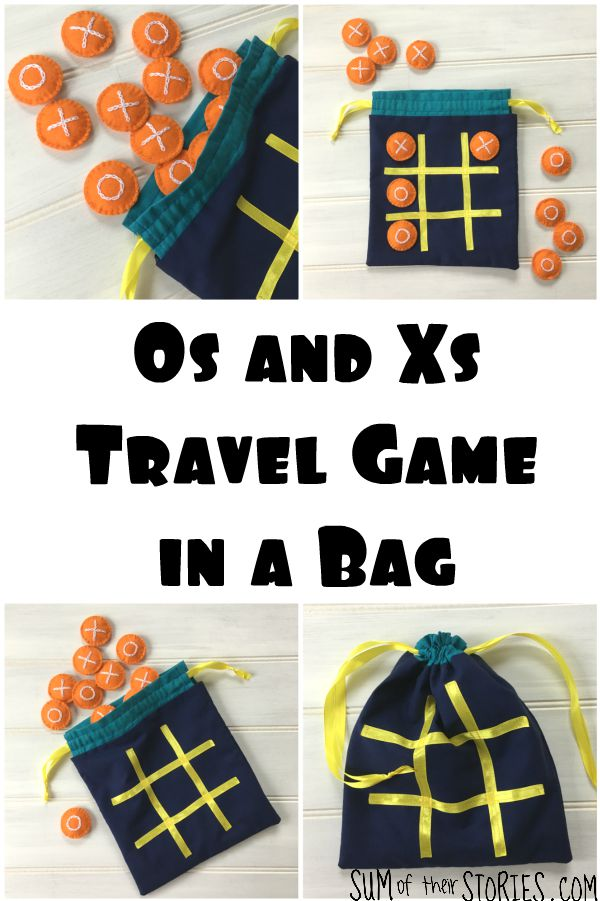 tic tac toe travel game in a bag