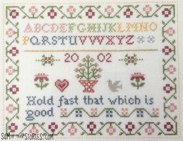 traditional style sampler
