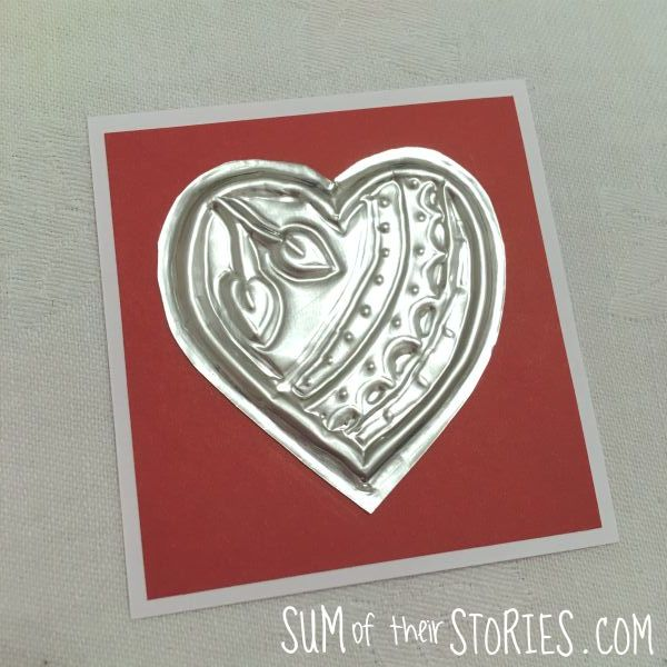 upcycled foil card topper