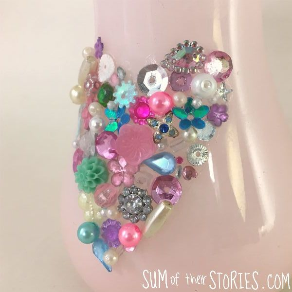 gem heart vase