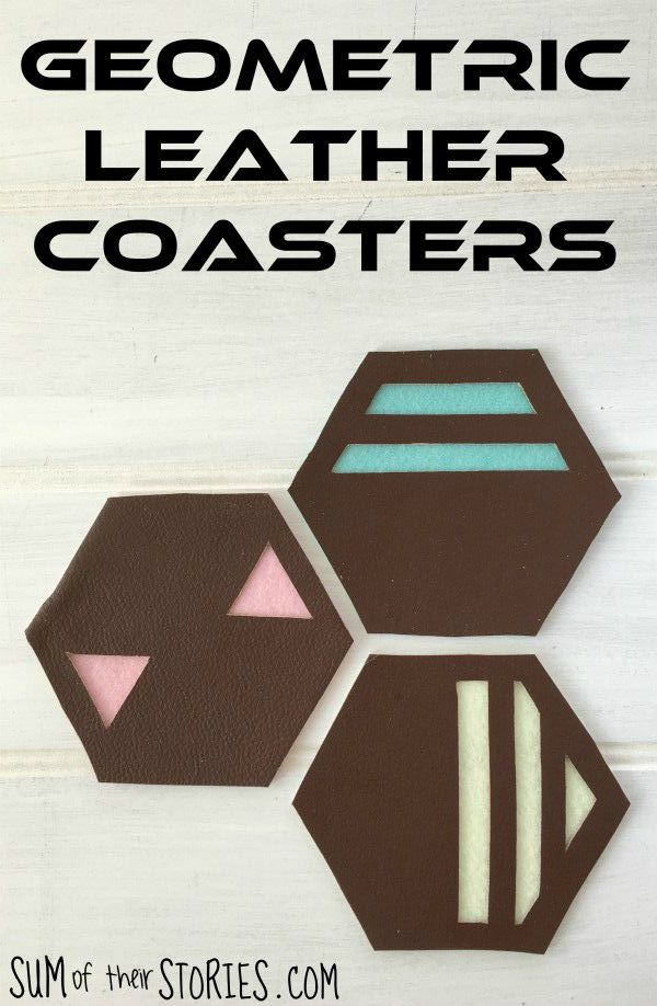 geometric leather coasters tutorial