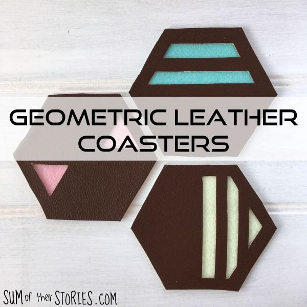 geometric leather coasters diy tutorial