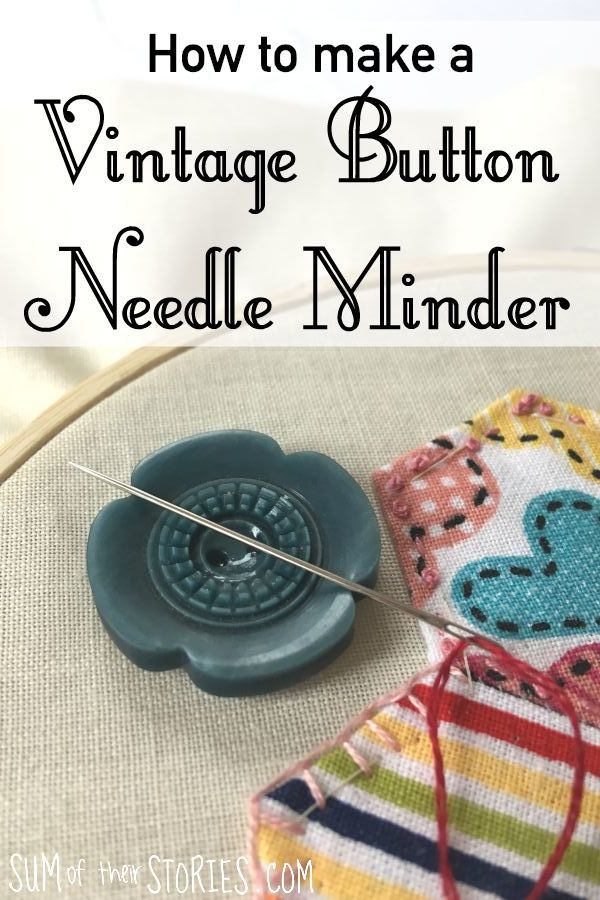 How to make a vintage button needle minder