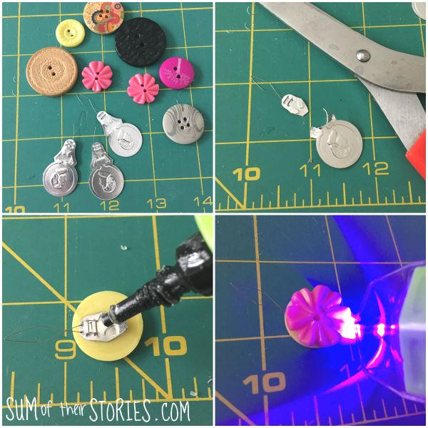 making a button needle threader