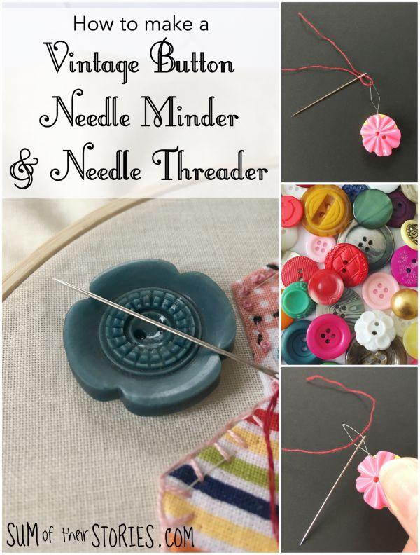 how to make a button needle minder and needle threader