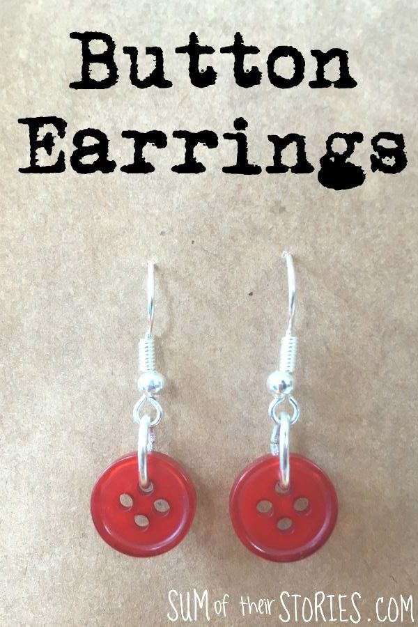 make your own simple button earrings