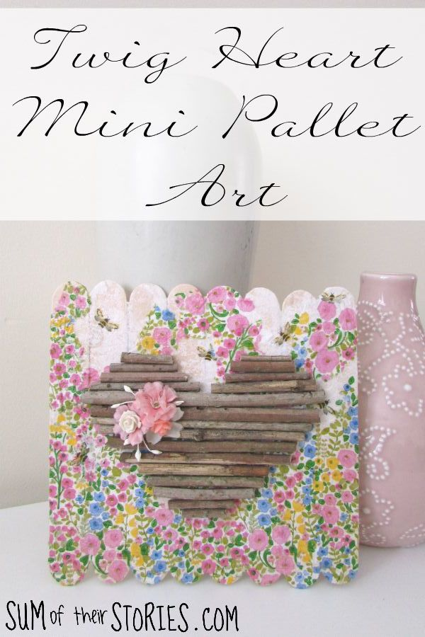 how to make twig heart art