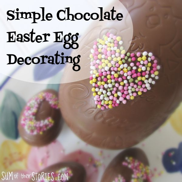 decorate chocolate eggs for easter