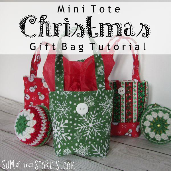 Christmas tote bag gift bag alternative