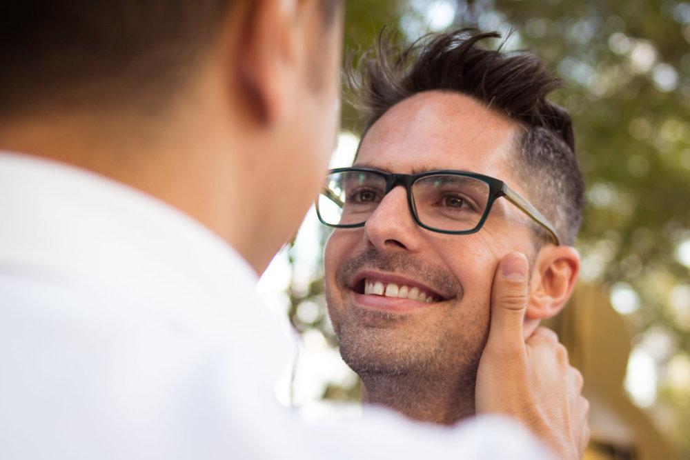 guy in love looking to his boyfriend