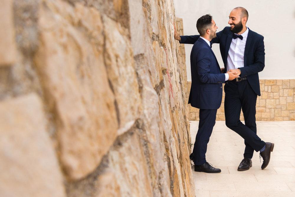 sesion de fotos de novios boda gay 5050 fotografos