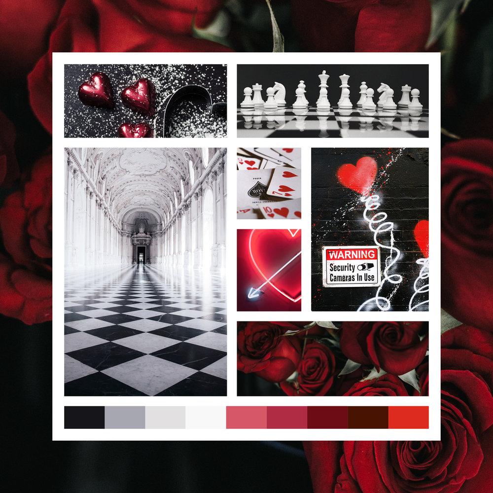 Queen of Hearts Moodboard Brand Design