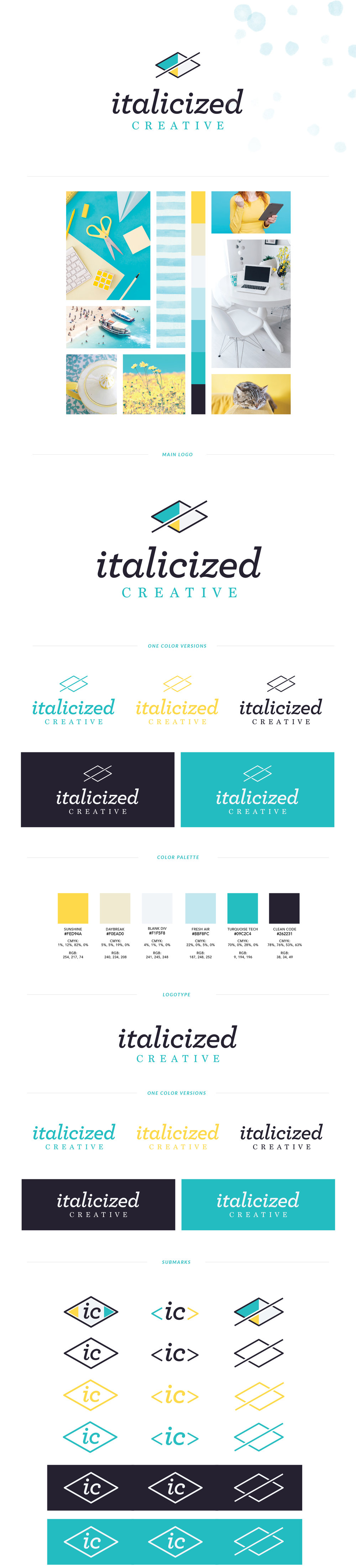 full custom brand design style guide