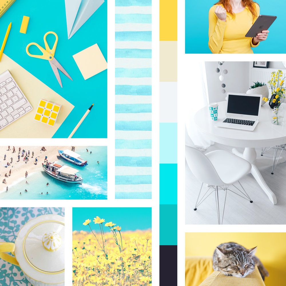 full custom brand design style guide moodboard mood board