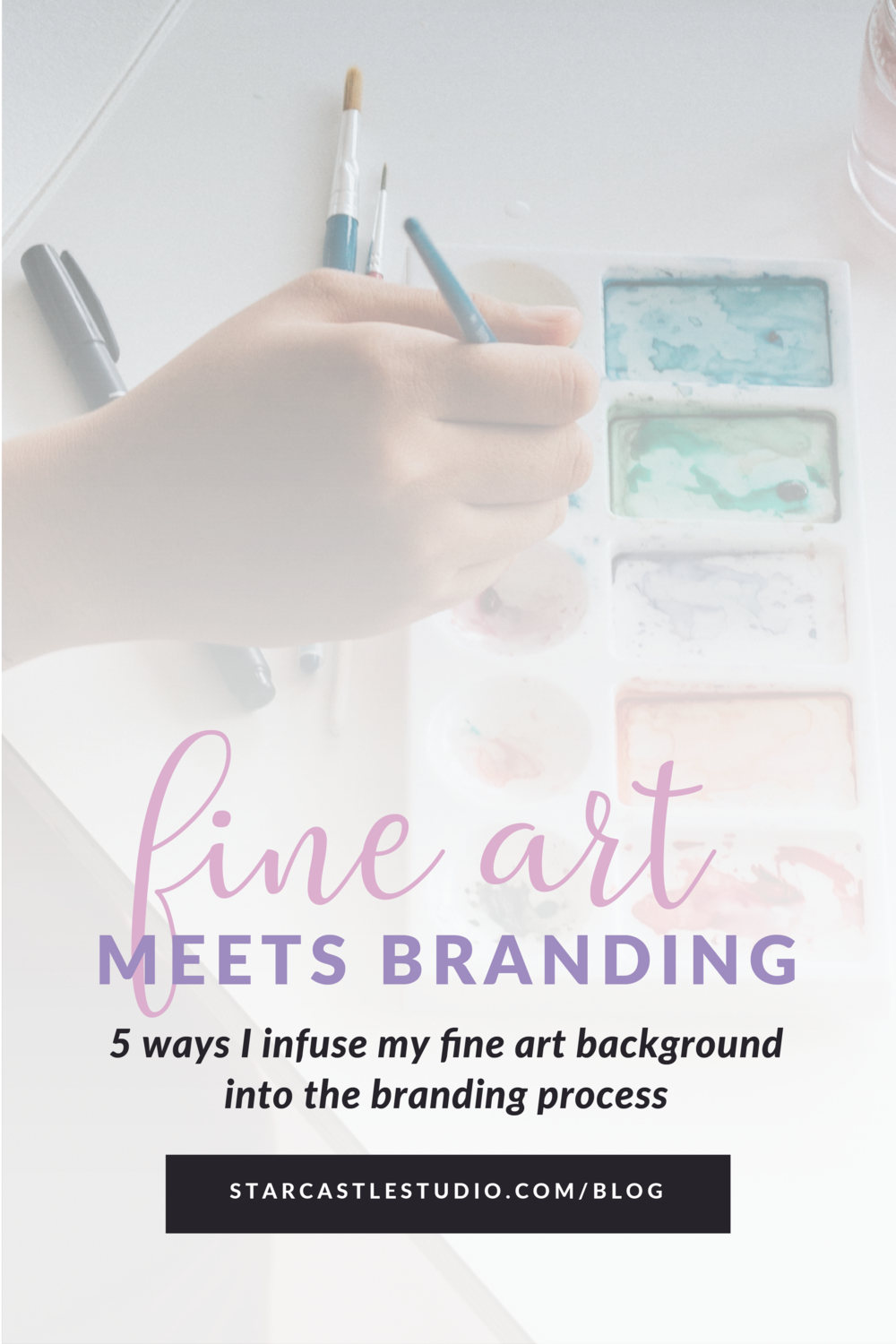 fine art meets branding behind the scenes