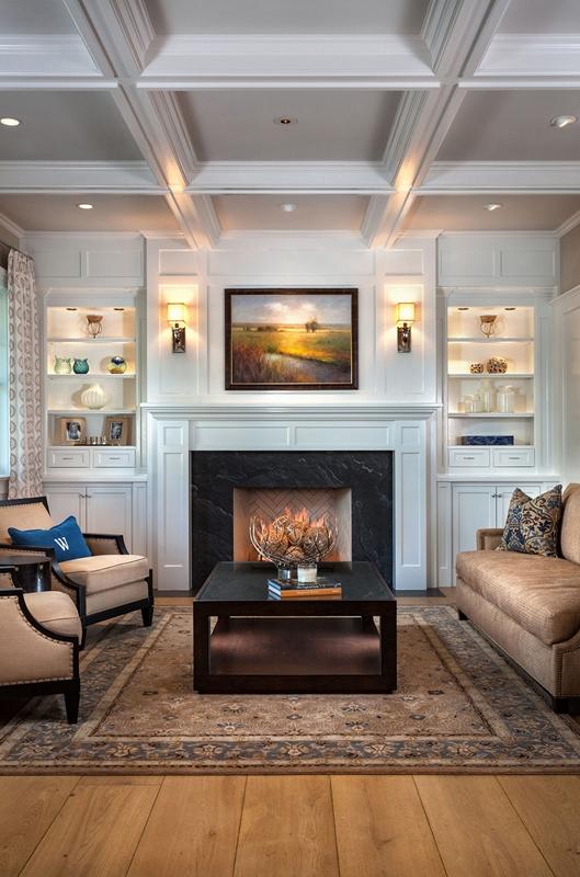 Hamptons Shingle Style FIReplaCE by Oatman Architects