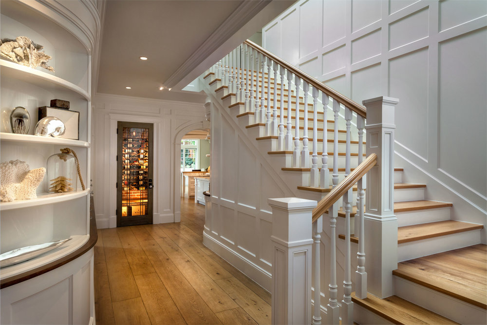 Hamptons Shingle Style Stairwell by Oatman Architects
