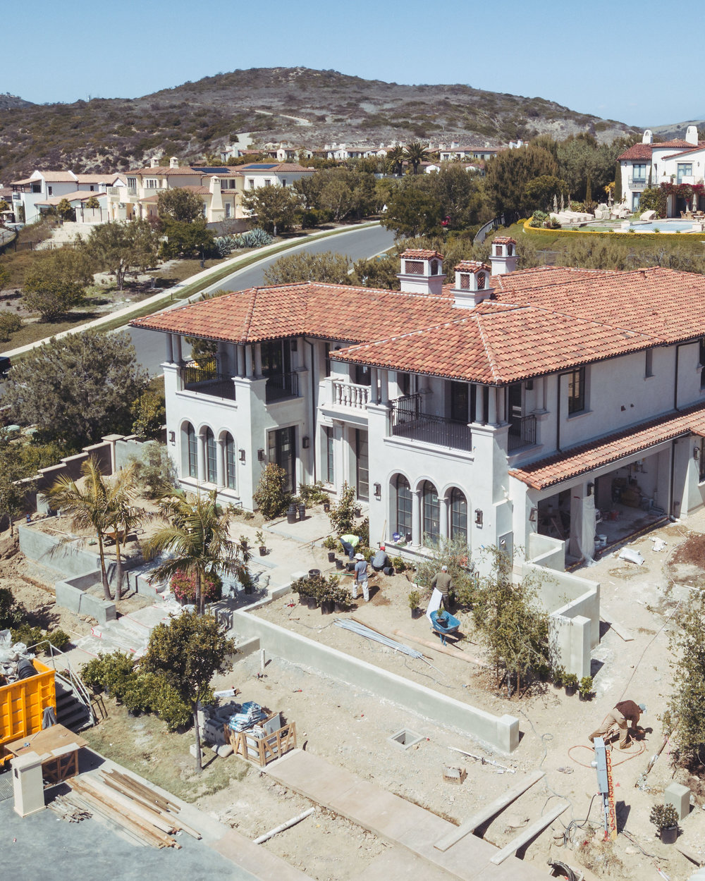 Crystal Cove Northern Italian Under Construction By Oatman Architects