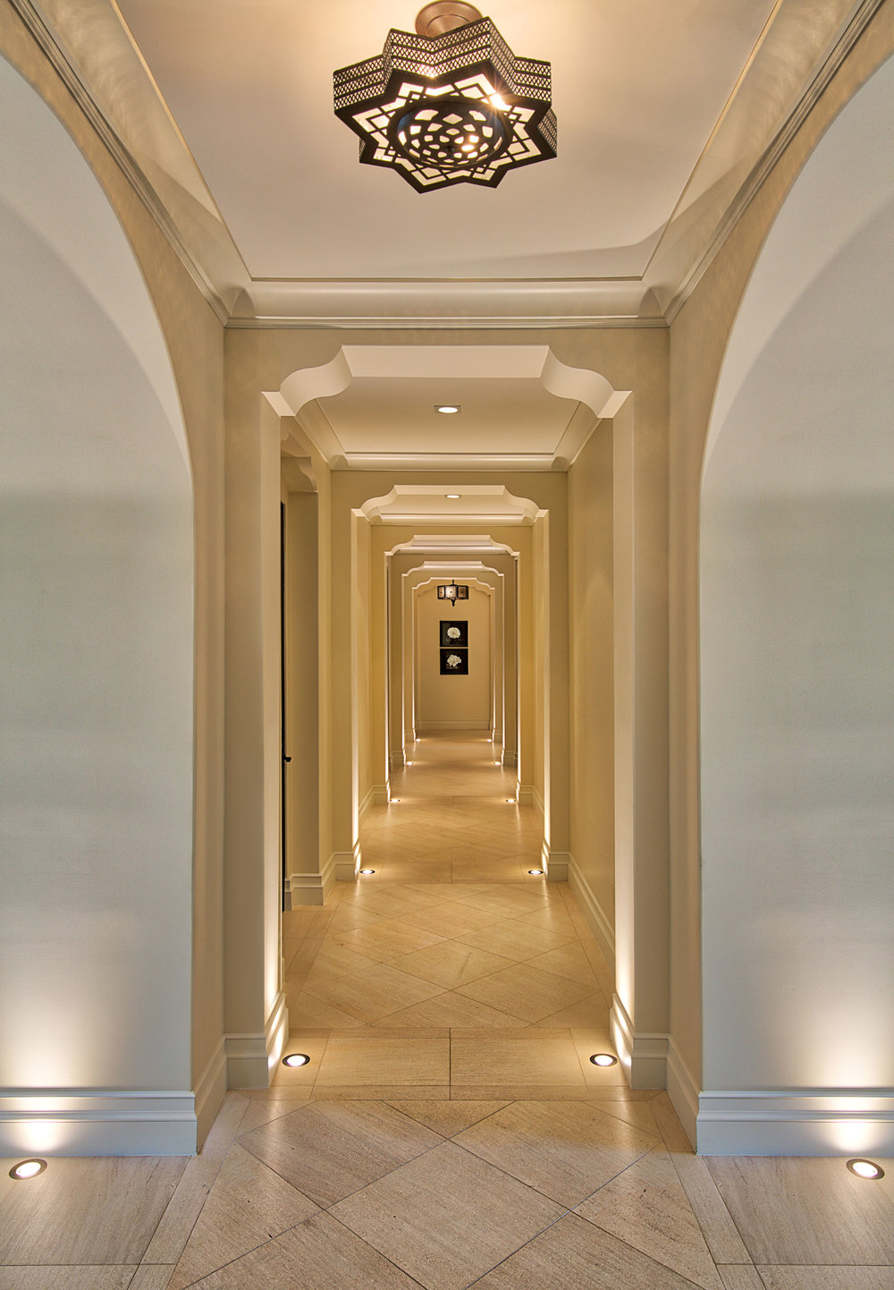 Orange County Mediterranean Estate Hallway by Oatman Architects