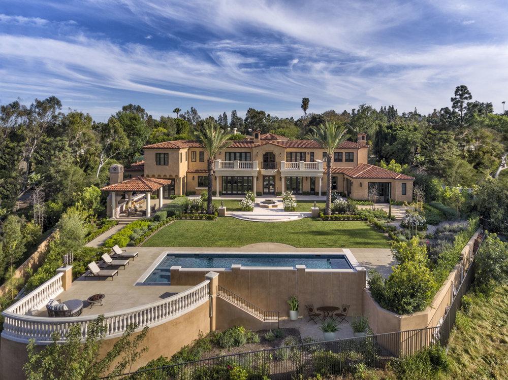 Orange County Mediterranean Estate Backyard BY OATMAN ARCHITECTS