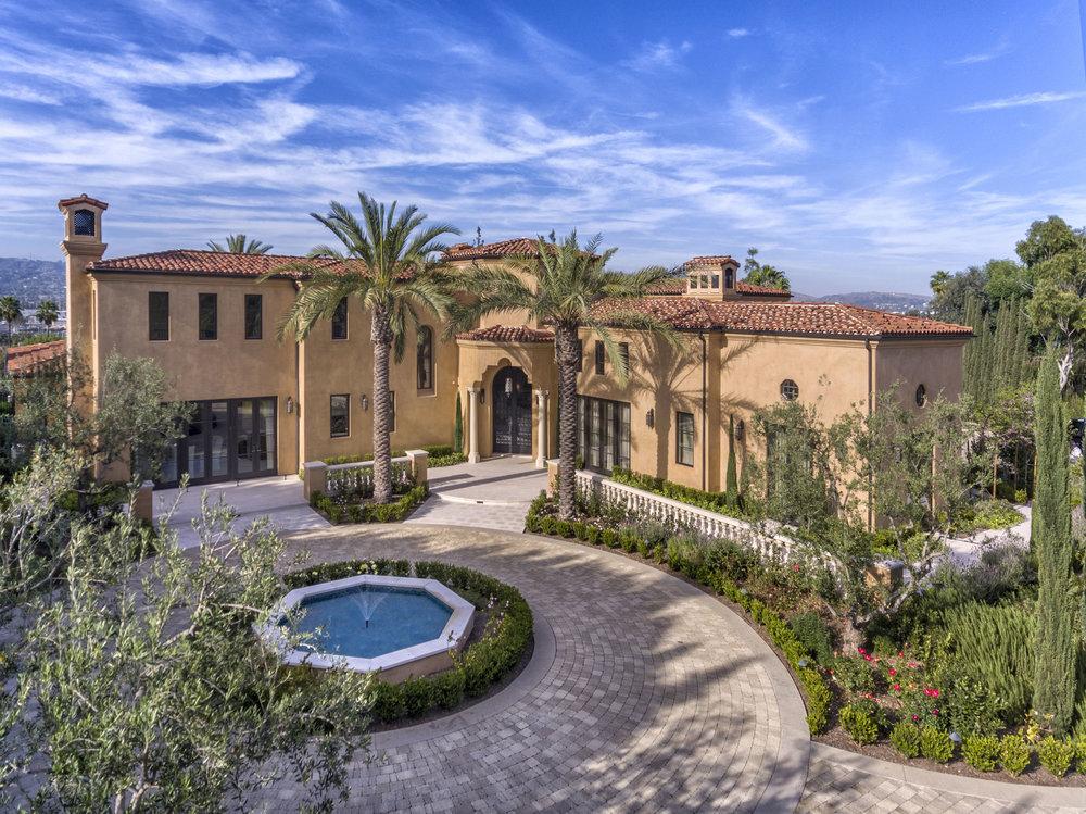 Orange County Mediterranean Estate Front by Oatman Architects.jpg
