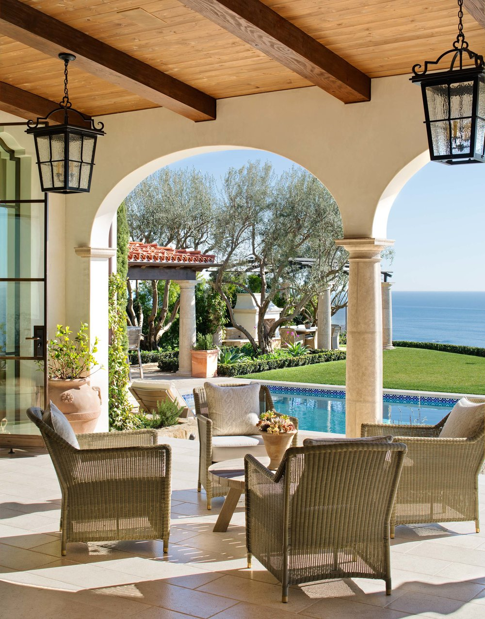 Newport Coast Santa Barbara Style Loggia by Oatman Architects