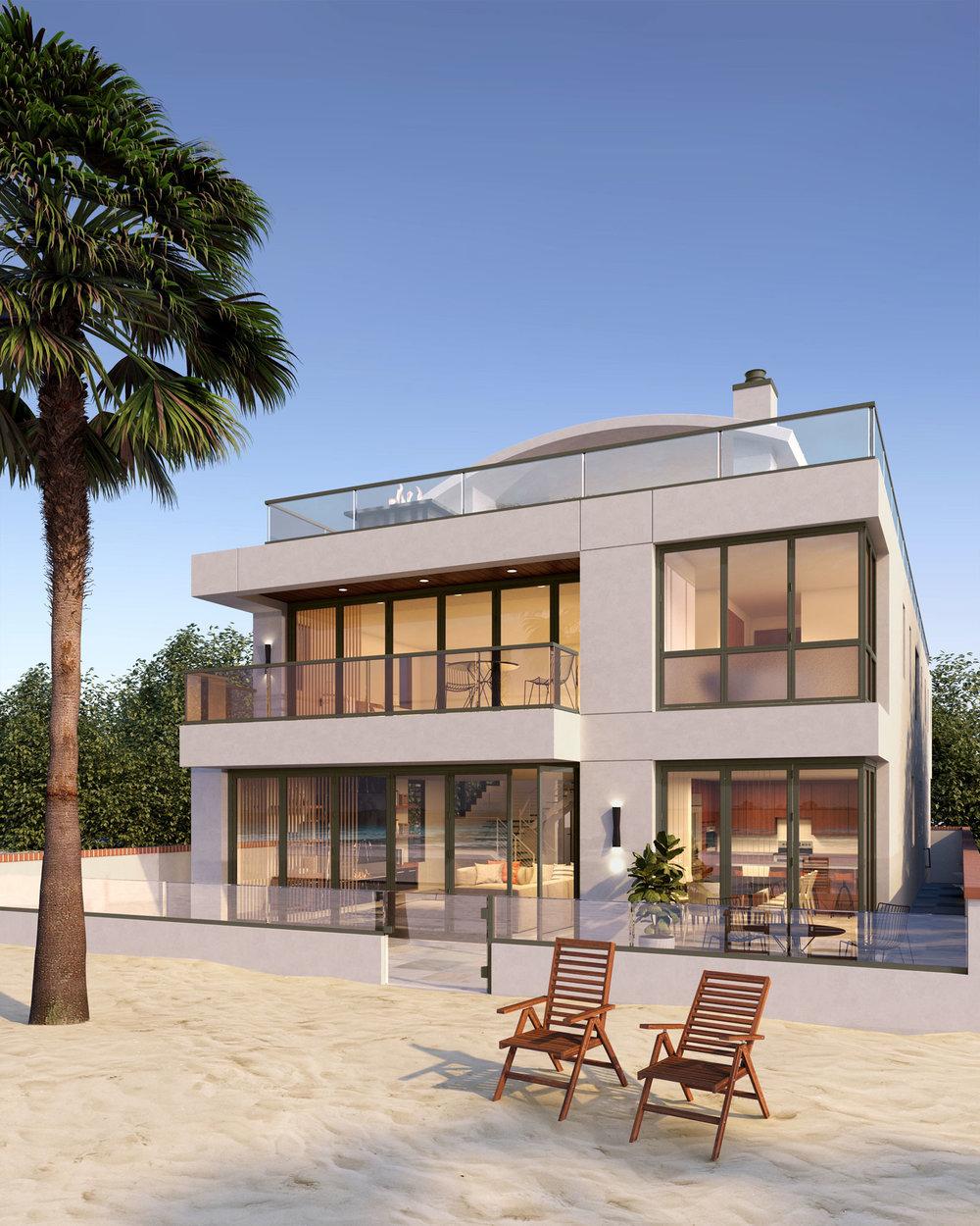 Newport Beach - Contemporary Beach House Exterior Rear by Oatman Architects