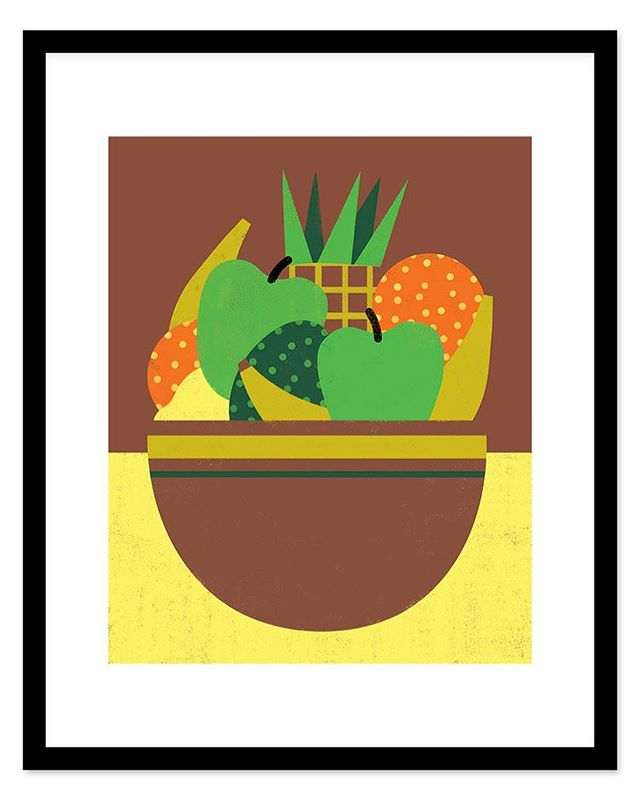 Classic fruit bowl print :) $24 for 8x10 and $45 for a big old 16x20 :) #prints #printlife #moderndesign #printlove #illustration #design
