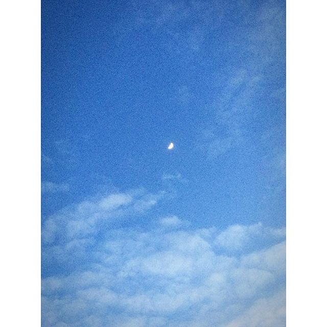 Yesterday afternoon moon.