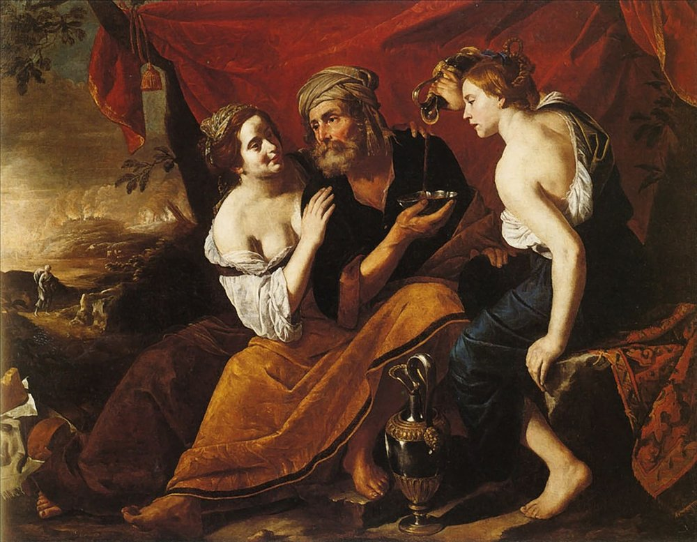 Lot and his daughters || Hendrick van Somer [Public domain], via  Wikimedia Commons