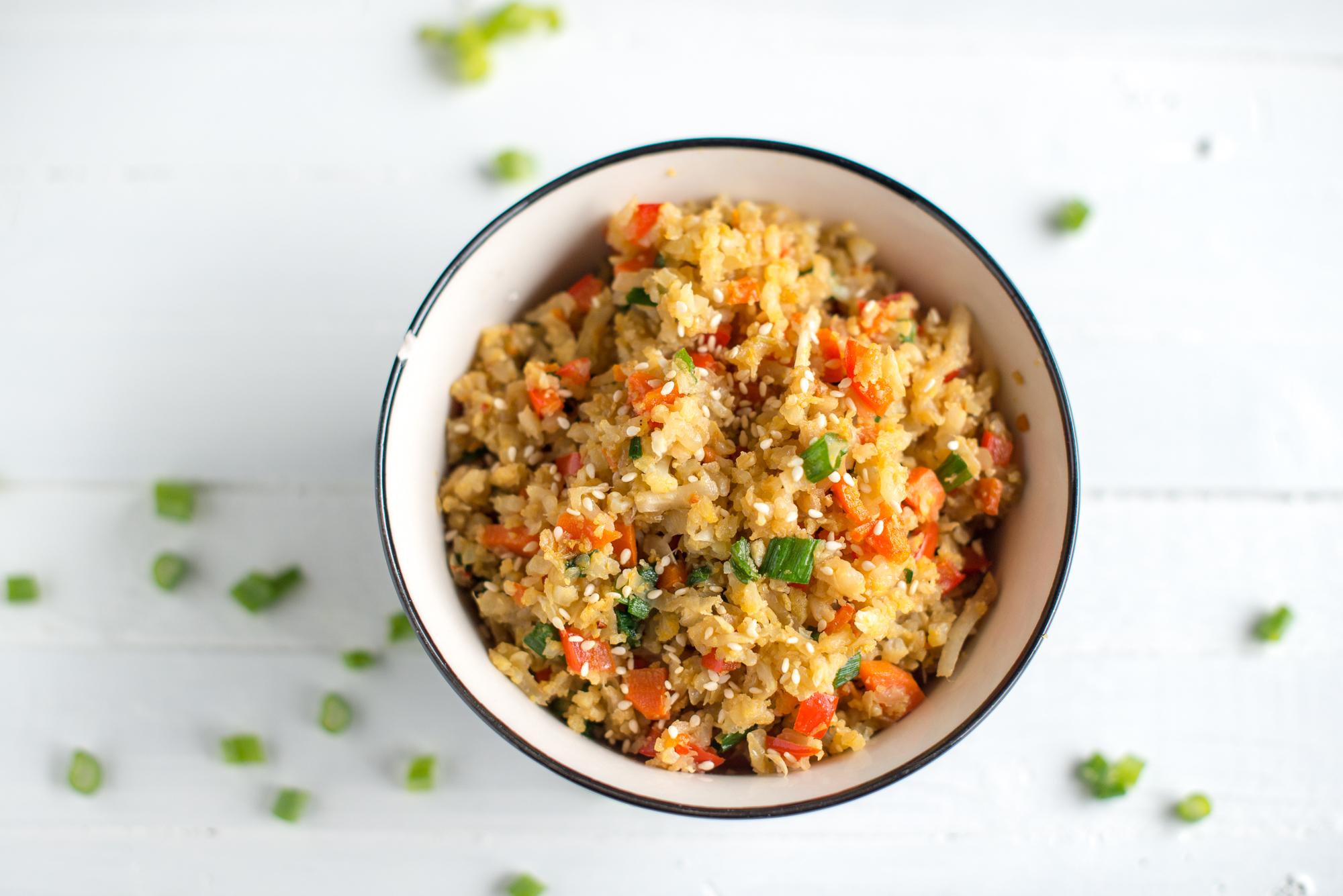 Cauliflower Fried Rice (Gluten Free, Dairy Free)