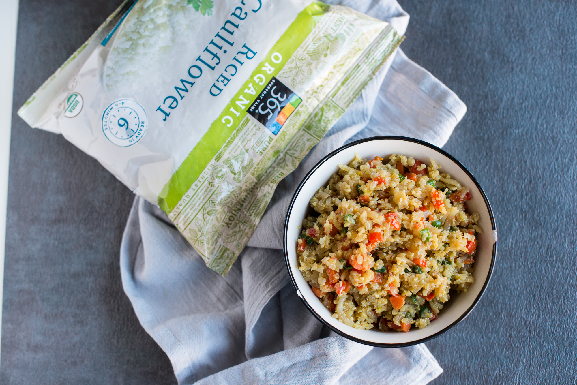 Cauliflower Fried Rice (Gluten Free, Dairy Free)