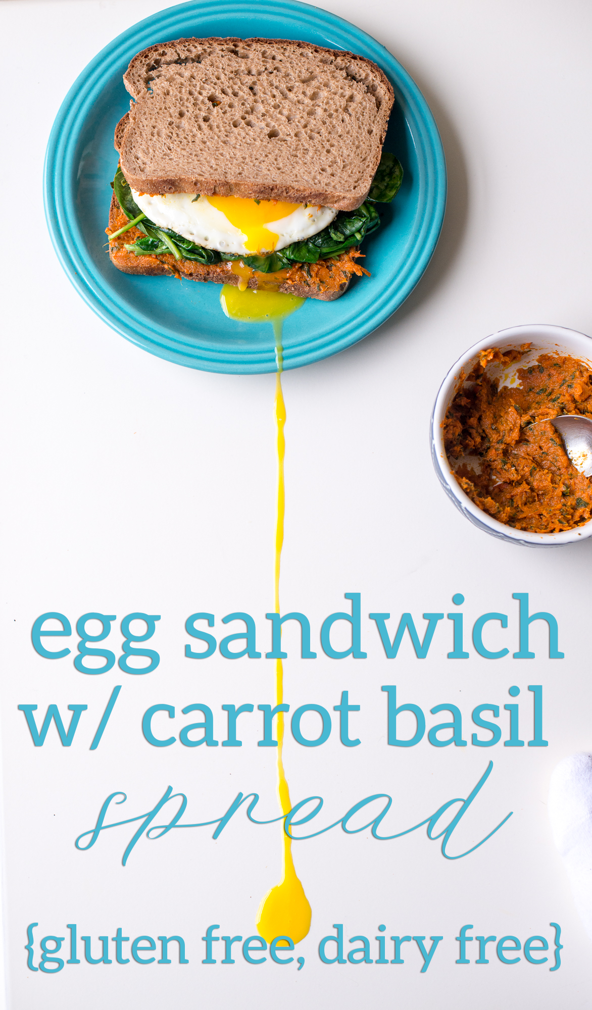 Classic Egg Sandwich with Carrot Basil Spread