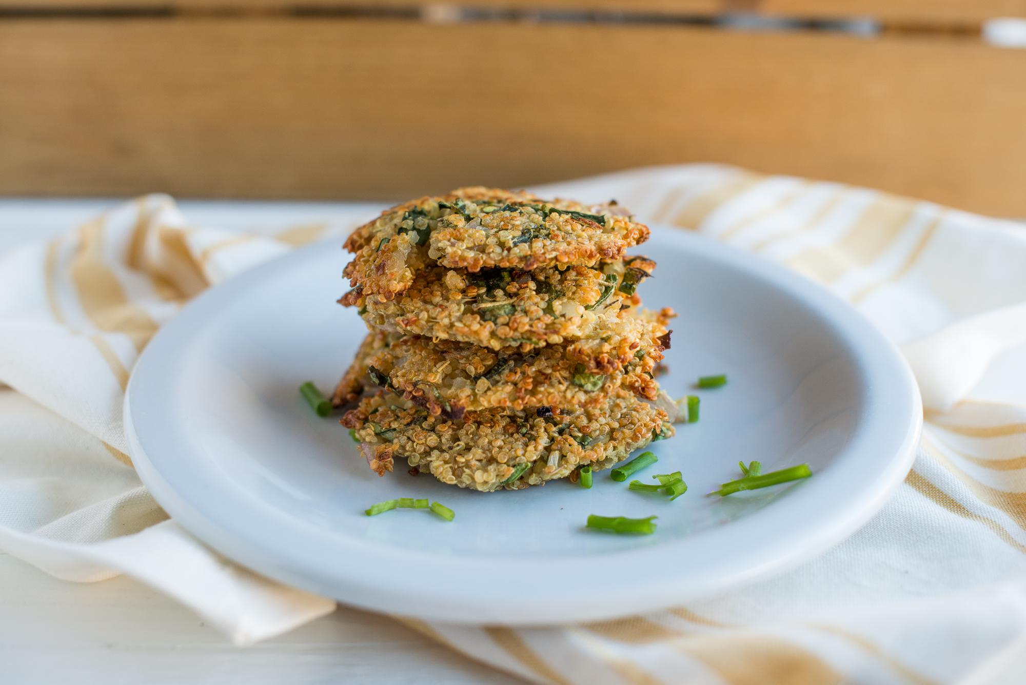 Spinach & Shallot Quinoa Burgers