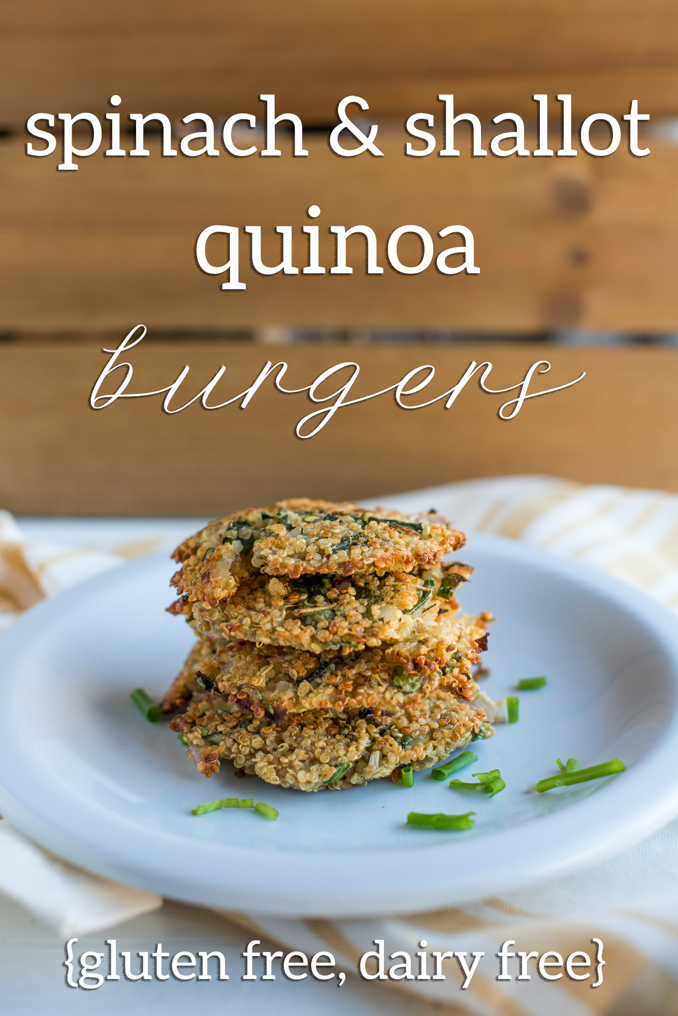 Spinach & Shallot Quinoa Burgers (Gluten Free, Dairy Free)