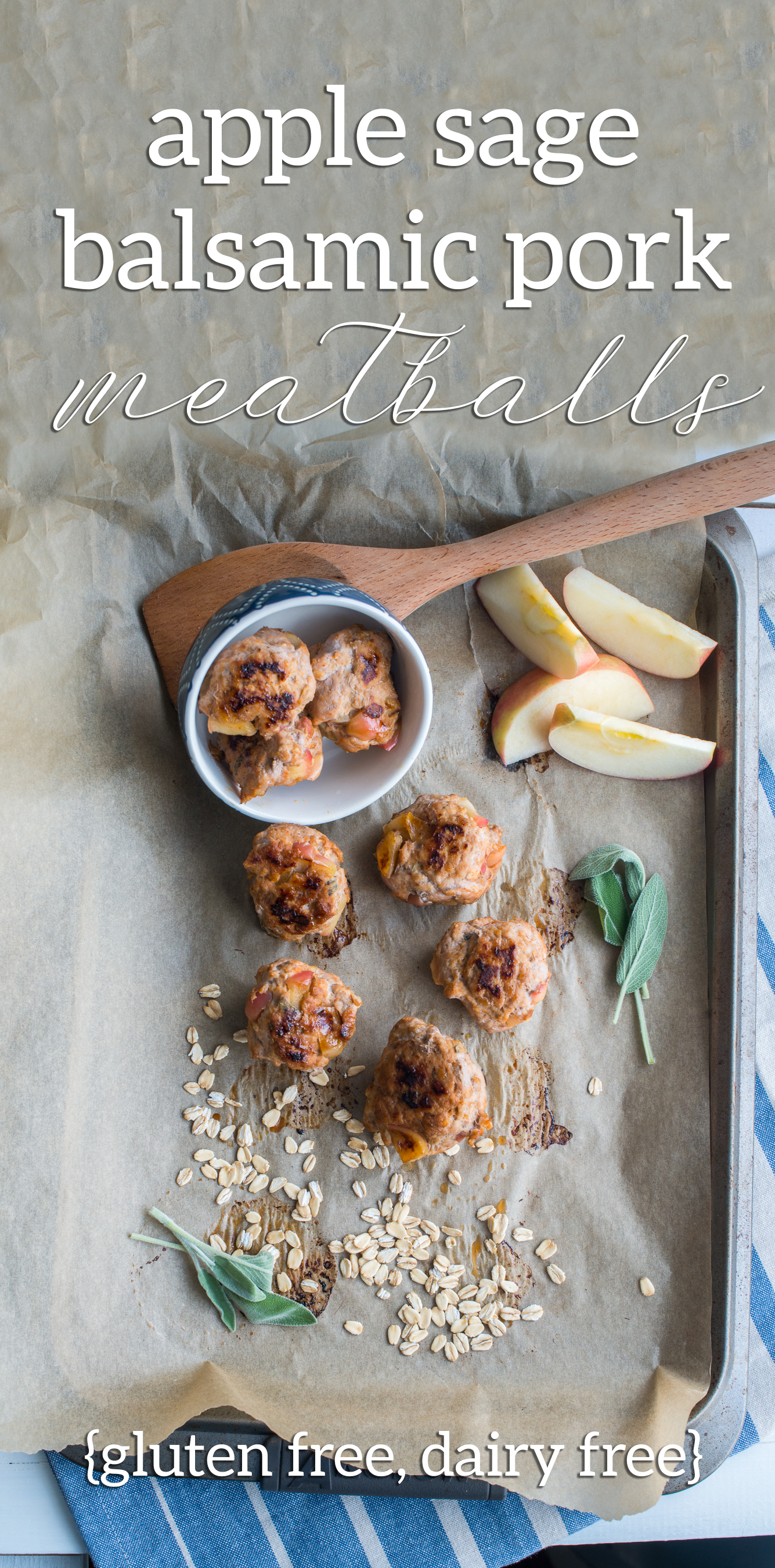 Apple Sage Balsamic Pork Meatballs
