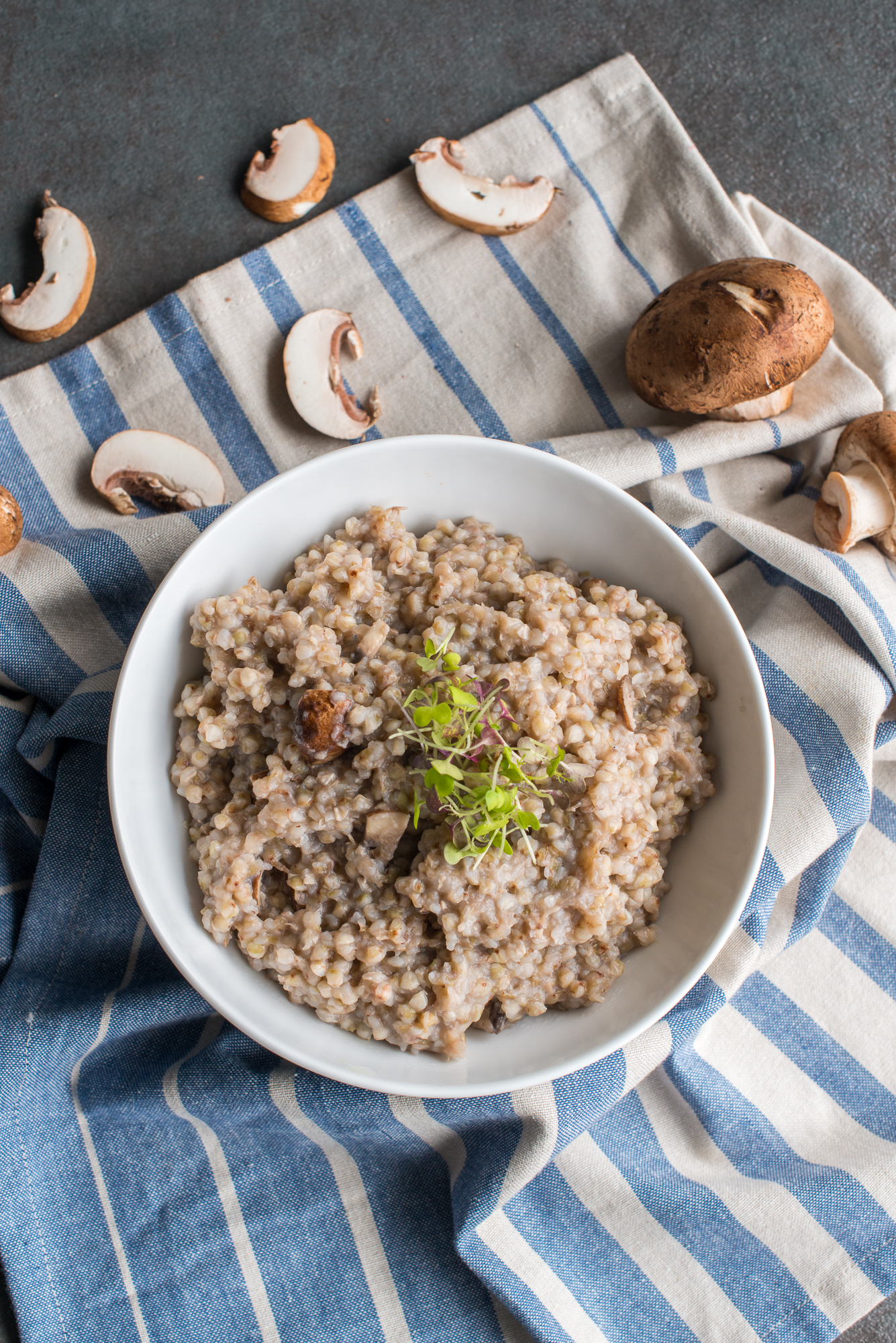 Buckwheat Mushroom Risotto (Gluten Free, Dairy Free)