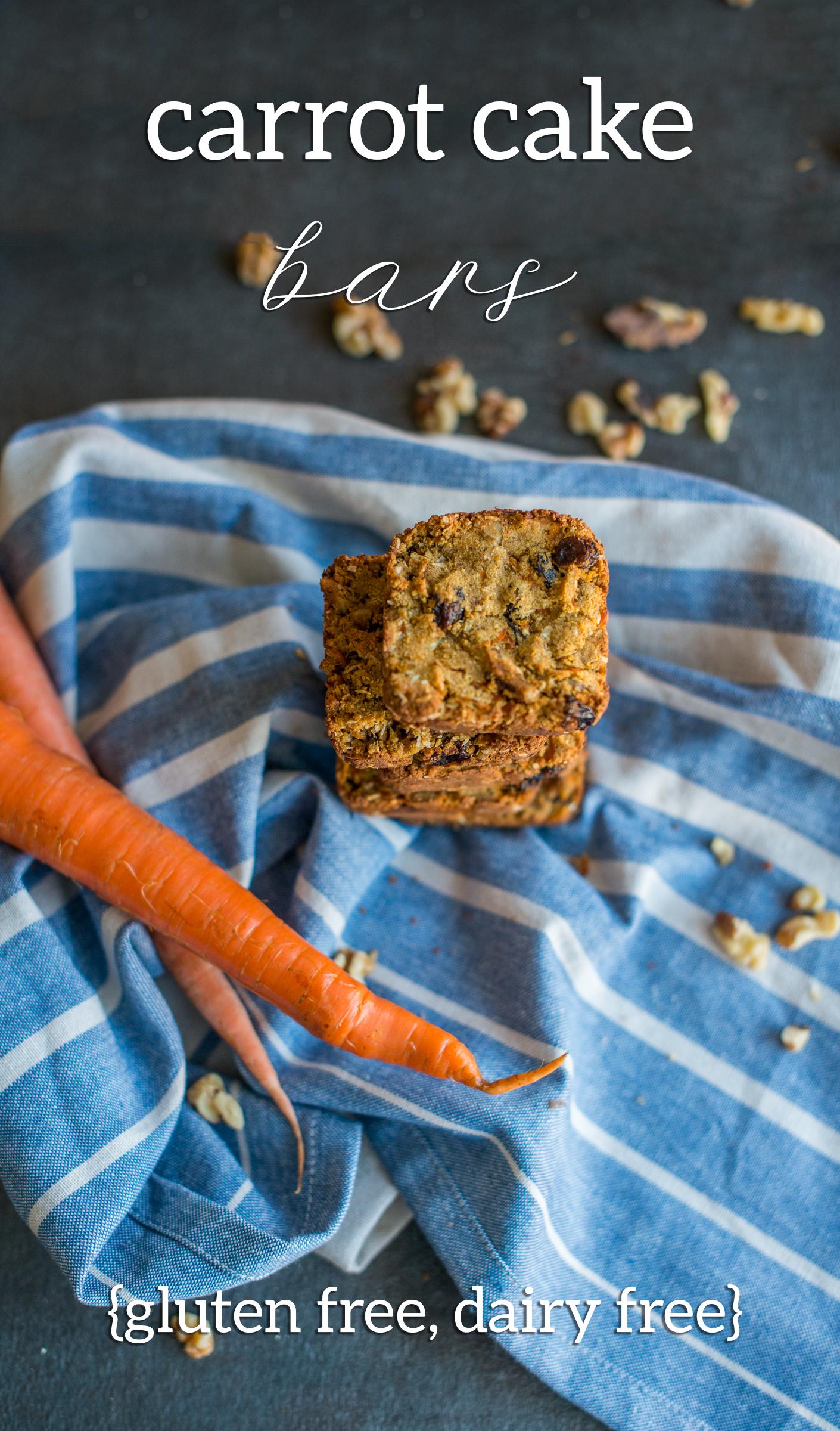 Carrot Cake Bars (Gluten Free, Dairy Free)